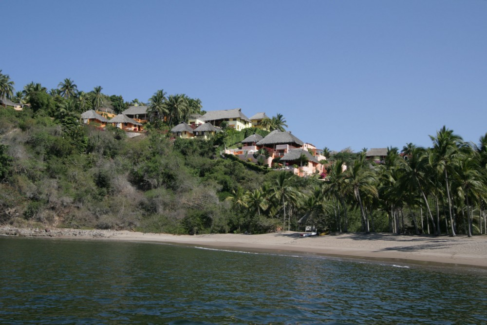 Playa Rosa beach, near Casitas de las Flores and Playa Rosa Bungalows