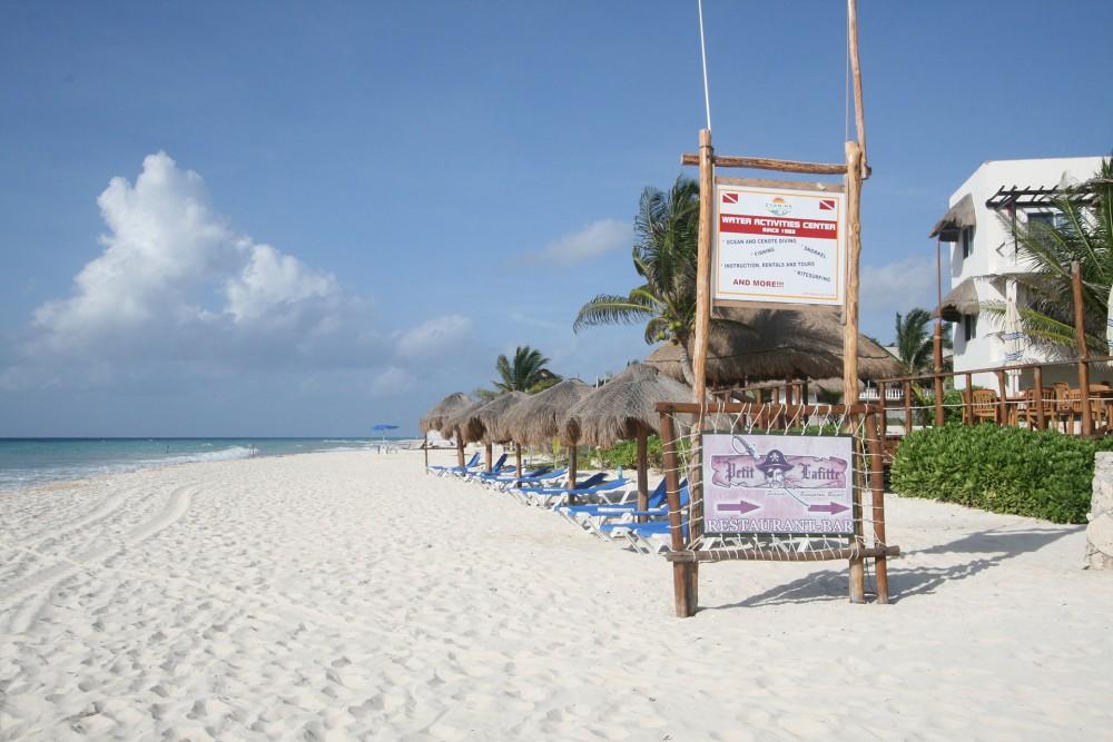 Petit Lafitte, Riviera Maya, the beach