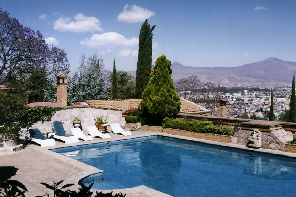 Villa Montana, Morelia, the pool